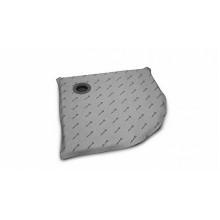 Полукруглая душевая плита с компактным трапом