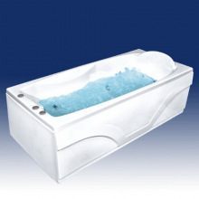 Акриловая ванна Bach Исланд на каркасе со сливом переливом без гидромассажа
