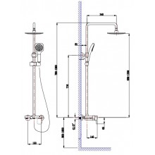 Душевая система Timo Lotta-Thermo SX-2610 Color