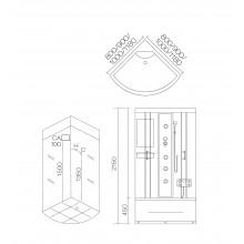 Душевая кабина гидромассажная AJ-3020 Размер:1000х1000х2150mm