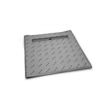 Квадратная душевая плита с линейным трапом