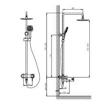 Душевая система Timo Hette SX-1020 White