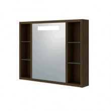 Шкаф зеркальный Милан 70 беленый дуб/венге