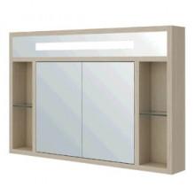 Шкаф зеркальный Милан 80 венге/беленый дуб